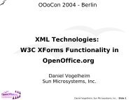 XML Technologies: W3C XForms Functionality in OpenOffice.org