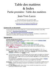 Table des matières - OpenOffice.org