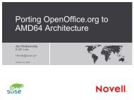 Porting OpenOffice.org to AMD64 Architecture