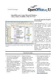 OpenOffice.org 1.1 pour Microsoft Windows, Linux, Solaris, FreeBSD ...