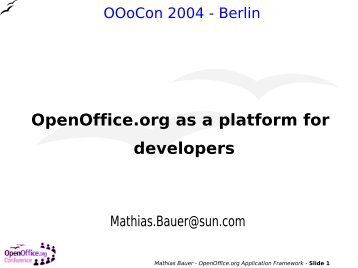 OpenOffice.org as a platform for developers