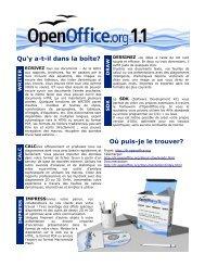 Qu'y a-t-il dans la boîte? Où puis-je le trouver? - OpenOffice.org
