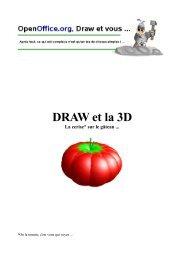 DRAW et la 3D - OpenOffice.org