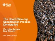 The OpenOffice.org Specification Process Demystified The ...