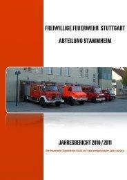 Jahresbericht 2010-2011 Feuerwehr Stammheim - Freiwillige ...