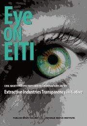 Eye on EITI - Open Society Foundations