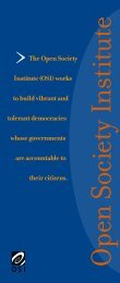 OSI Brochure: A Record of Achievement - Open Society Foundations