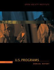 U.S. Programs 2002 Annual Report - Open Society Foundations