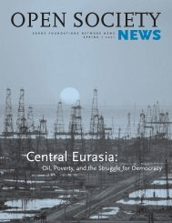 Central Eurasia: - Open Society Foundations