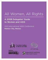 OSI AIDS Program Guide - Open Society Foundations
