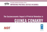The Socioeconomic Impact of Pretrial Detention in Guinea Conakry