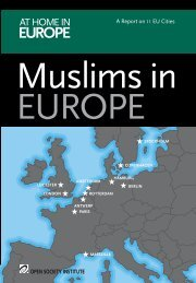 Muslims in Europe: A Report on 11 EU Cities. - Open Society ...
