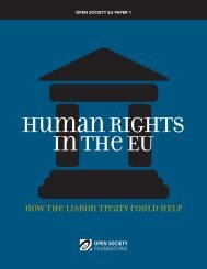 Human Rights in the EU - Open Society Foundations