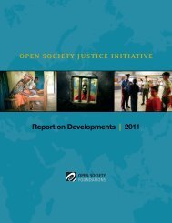 Report on Developments | 2011 - Open Society Foundations