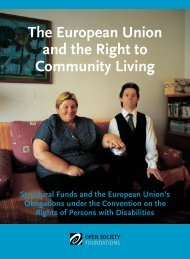 The European Union and the Right to Community Living