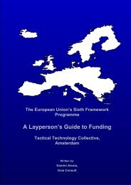 A Layperson's Guide to Funding in the Sixth Framework Programme ...