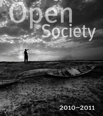 Open Society Advances in 2010–2011 - Open Society Foundations