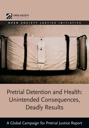 Pretrial Detention and Health - Open Society Foundations