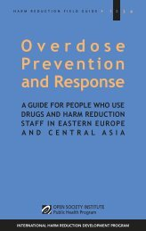 Overdose Prevention and Response - International Harm Reduction ...