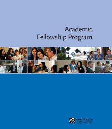 Academic Fellowship Program - Open Society Foundations