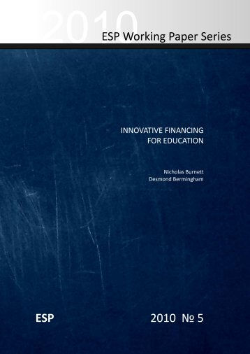 Innovative Financing for Education - Results for Development Institute