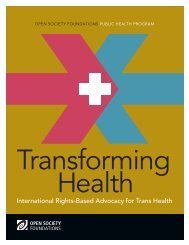 Transforming Health - Open Society Foundations