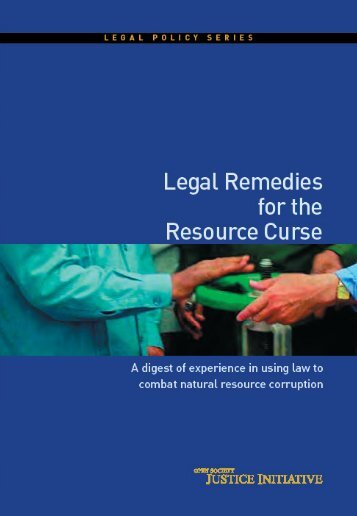 Legal Remedies for the Resource Curse - Open Society Foundations