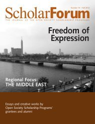 ScholarForum - Open Society Foundations
