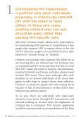 """10 Reasons to Oppose the Criminalization of HIV Exposure or ... - Page 5"