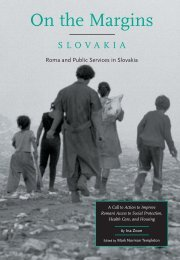 On the Margins: Roma and Public Services in Slovakia - Eurac