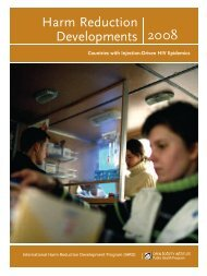 2008 Harm Reduction Developments - Open Society Foundations