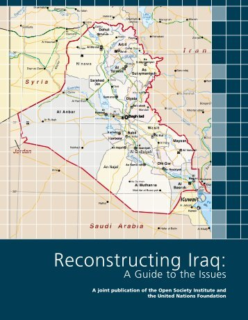 Reconstructing Iraq 5.28.03 - Open Society Foundations
