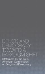drugs and democracy - Open Society Foundations