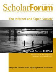 The Internet and Open Society - Open Society Foundations