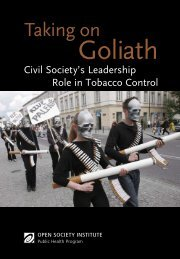 Taking on Goliath: Civil Society's Leadership Role in Tobacco Control