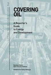 COVERING OIL - Open Society Foundations
