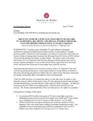 The New Politics of Judicial Elections 2004-Press Release