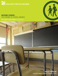 missing school: the epidemic of school absence - Open Society ...