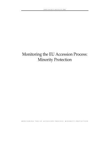 Monitoring the EU Accession Process: Minority Protection (Overview)