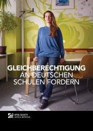 GLEICHBERECHTIGUNG an deutschen schulen fordern