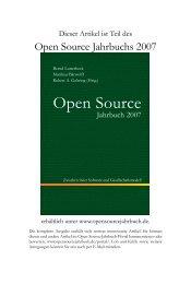 Die ökonomischen Grenzen freier Software - Open Source Jahrbuch