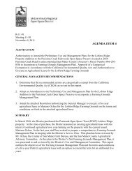 Authorization to Amend the Preliminary Use and Management Plans ...