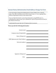 Domain Name Administrative Email Address Change ... - OpenSRS