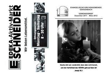 Gemeindebrief Dezember 2011 bis März 2012 - Evangelische ...