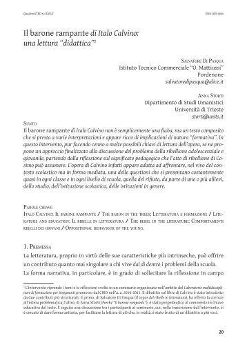 Il barone rampante di Italo Calvino: una lettura ... - OpenstarTs