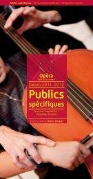 Publics spécifiques - Opéra de Bordeaux
