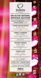 ORCHESTRE NATIONAL BORDEAUX AQUITAINE - Opéra de ...