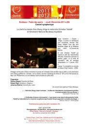 Bordeaux - Palais des sports – Jeudi 3 Novembre 2011 à 20h ...