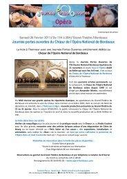 Samedi 26 Février 2011 - Opéra de Bordeaux