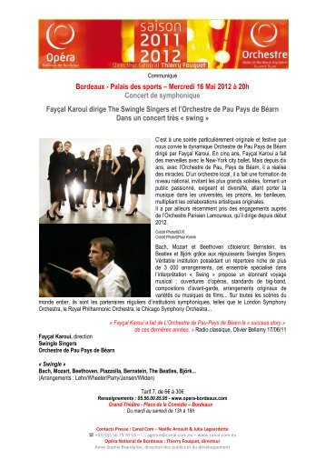 Bordeaux - Palais des sports – Mercredi 16 Mai 2012 à 20h Concert ...
